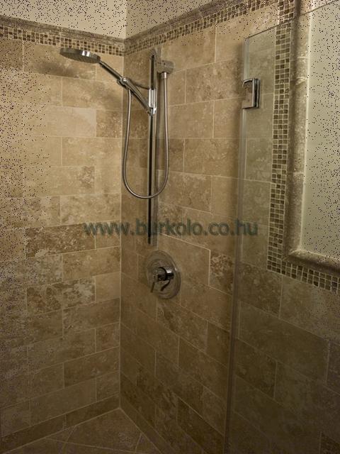 fürdőszoba, épített zuhanyzó, burkolás, burkoló