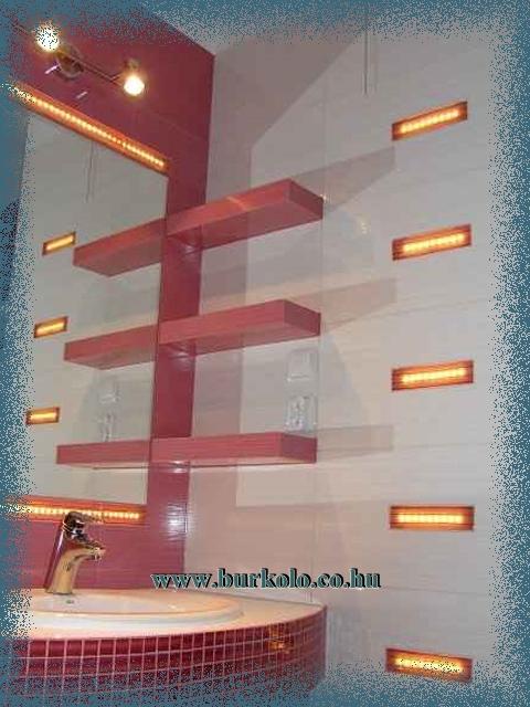 Hangulatos fürdőszobai világítás a ledsor