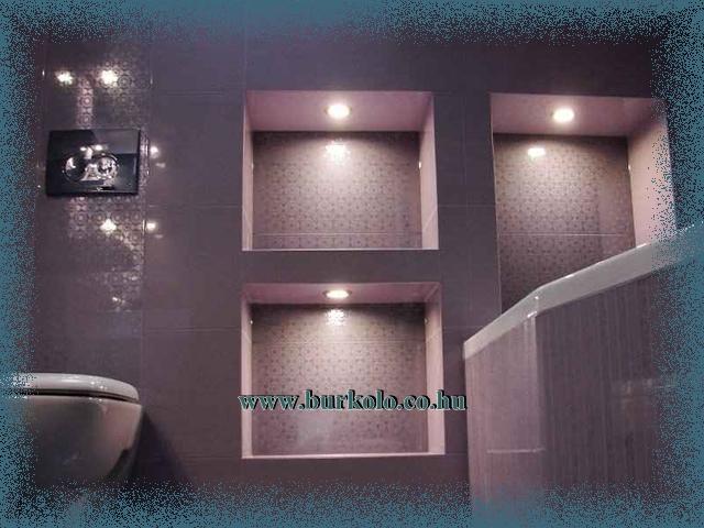 Fürdőszoba polc épített kivitelben