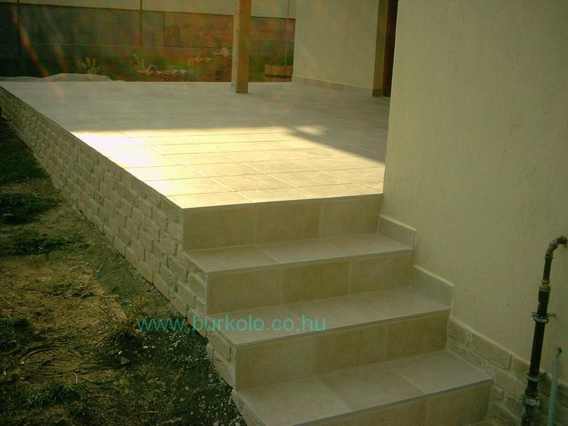 lépcső burkolás, burkoló 31-kép