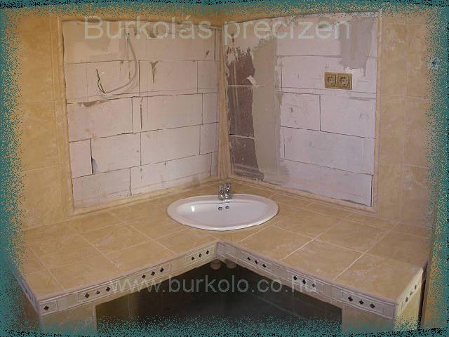 mosdó pult burkolás burkoló kép 3