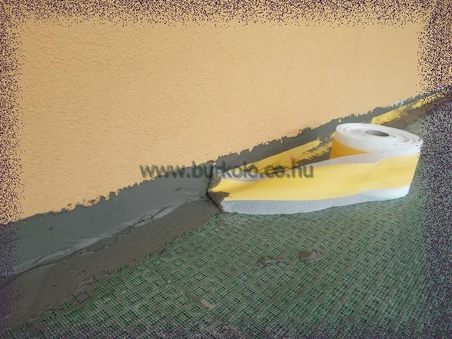 hajlatok vízzárása hajlaterősítő szalaggal