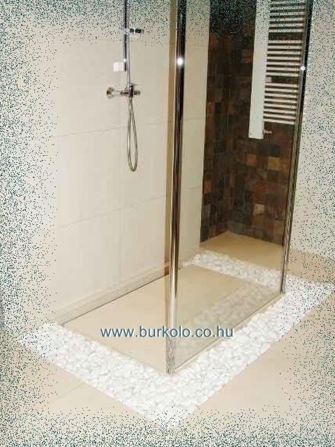 zuhanyzó üvegfallal zuhanykabin ajtó nélkül