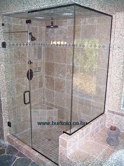 Zuhanyzó helye a fürdőszobán belül